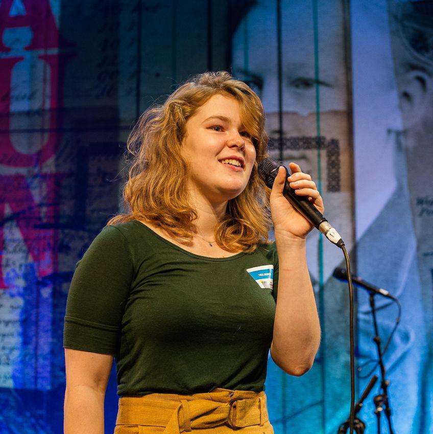 Spoken Word door Ruth Ruijgers DGG19. Foto: Judith van der Meulen