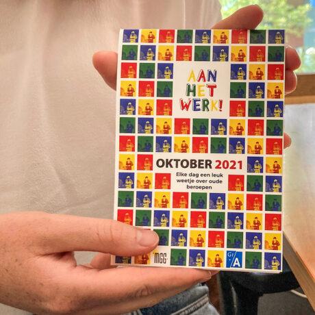 Een afbeelding van de scheurkalender Aan het werk!