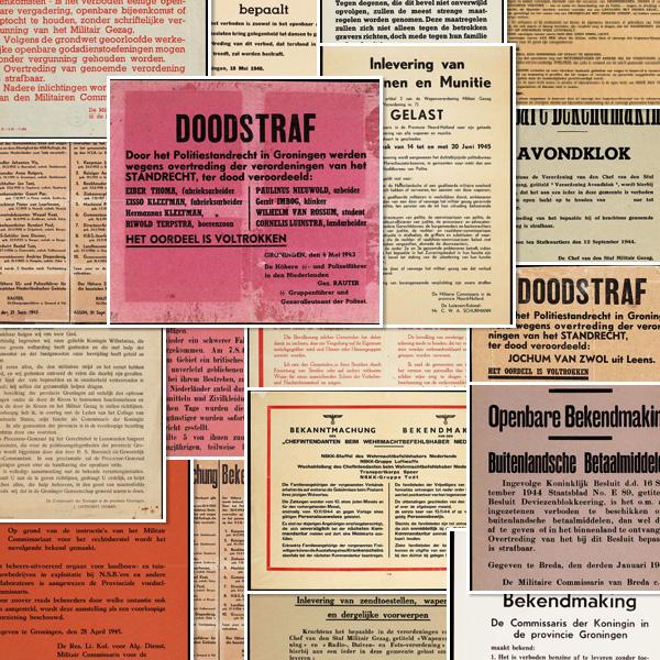 Diverse bekendmakingen uit de periode 1940-1946